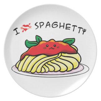 I love spaghetti dinner plate