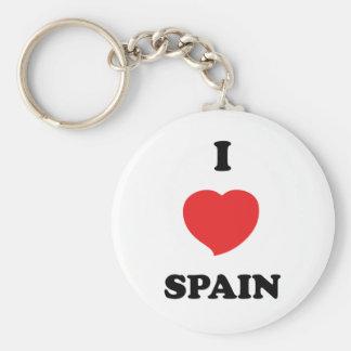 I LOVE Spain Basic Round Button Keychain