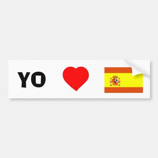I love Spain Car Bumper Sticker