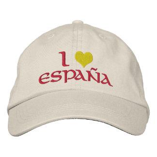 I love Spain Embroidered Baseball Cap