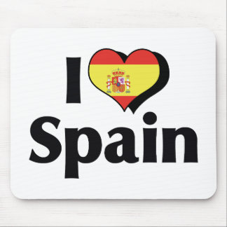 I Love Spain Flag Mouse Pad