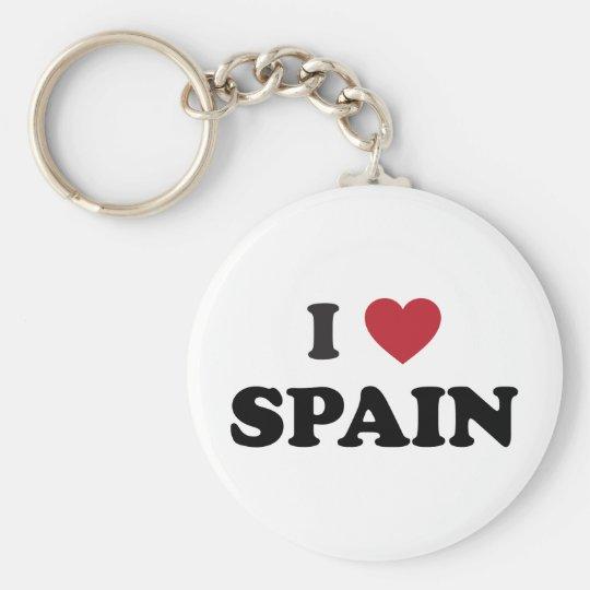 I Love Spain Keychain