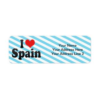 I Love Spain Label