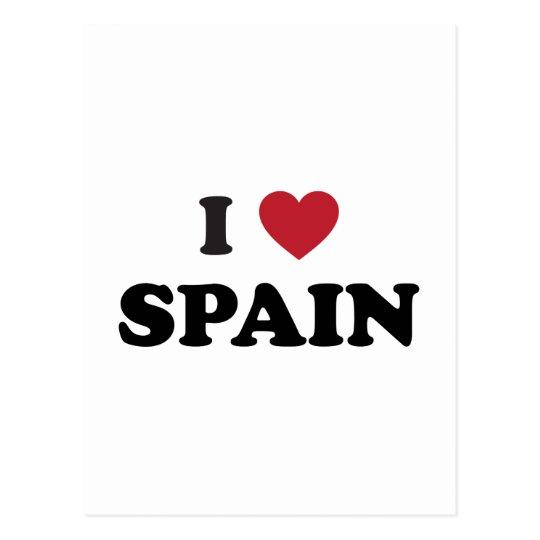 I Love Spain Postcard