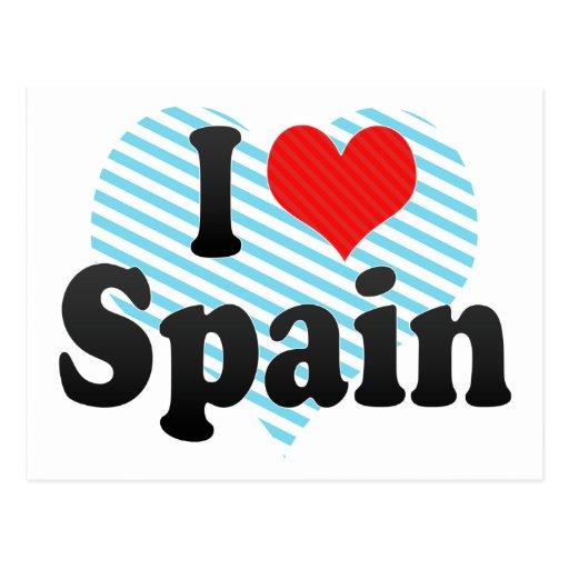 I Love Spain Post Card