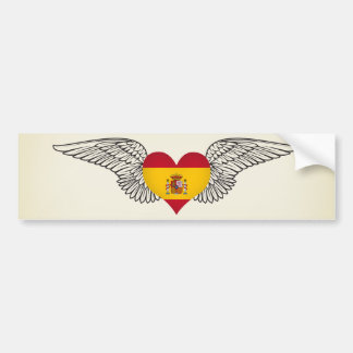 I Love Spain -wings Bumper Sticker