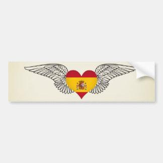 I Love Spain -wings Bumper Stickers