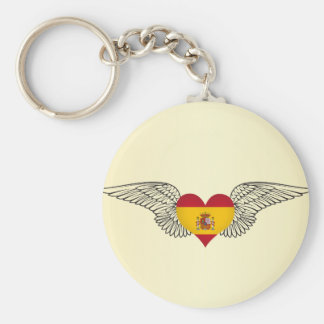 I Love Spain -wings Keychain