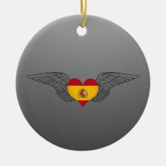 I Love Spain -wings Ornaments