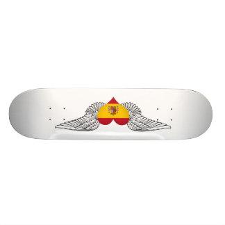 I Love Spain -wings Skateboard Deck