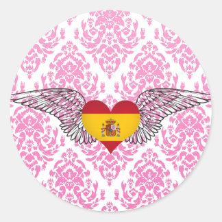 I Love Spain -wings Stickers