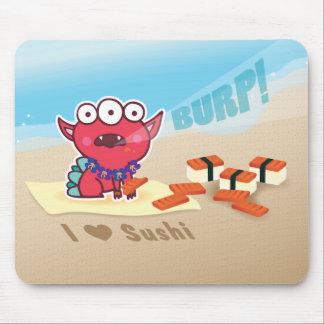 I Love SPAM Sushi sand writing mousepad