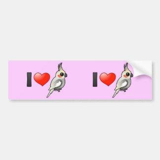 I Love Spangled Cockatiels Bumper Sticker