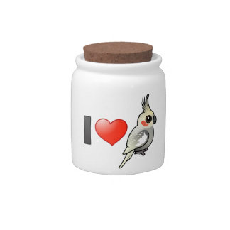I Love Spangled Cockatiels Candy Jar