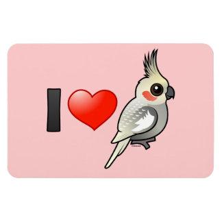 I Love Spangled Cockatiels Magnet