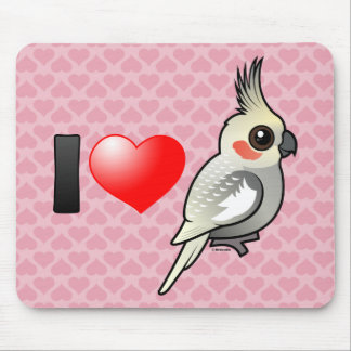 I Love Spangled Cockatiels Mouse Pad