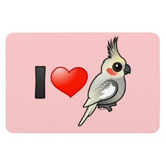 I Love Spangled Cockatiels Vinyl Magnets