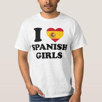 I love Spanish Girls T-shirt