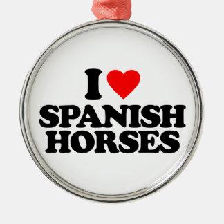 I LOVE SPANISH HORSES CHRISTMAS ORNAMENTS