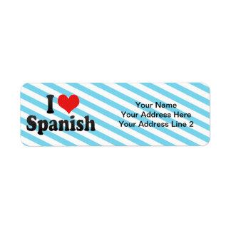 I Love Spanish Label