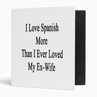 I Love Spanish More Than I Ever Loved My Ex Wife Vinyl Binders