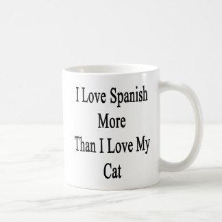 I Love Spanish More Than I Love My Cat Coffee Mug