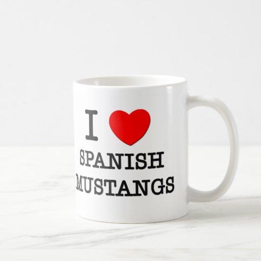 I Love Spanish Mustangs (Horses) Coffee Mugs