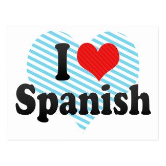 I Love Spanish Postcard