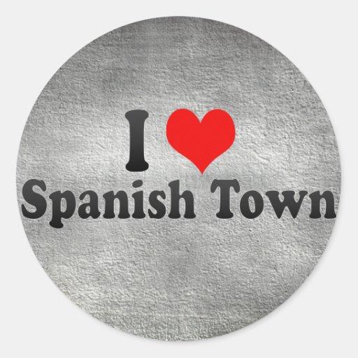 I Love Spanish Town, Jamaica Classic Round Sticker