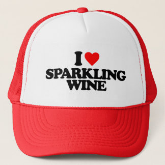 I LOVE SPARKLING WINE TRUCKER HAT