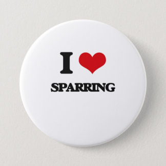 I love Sparring Pinback Button