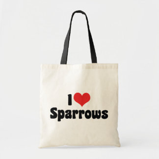 I Love Sparrows Budget Tote Bag