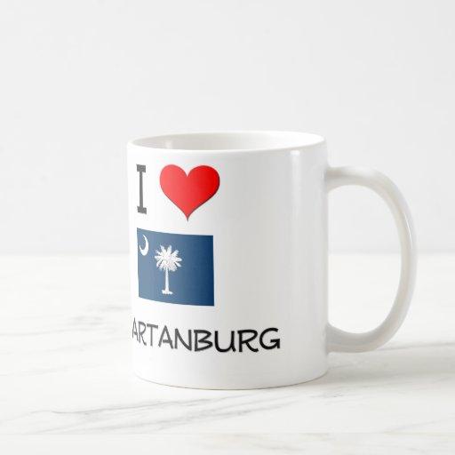 I Love Spartanburg South Carolina Coffee Mug
