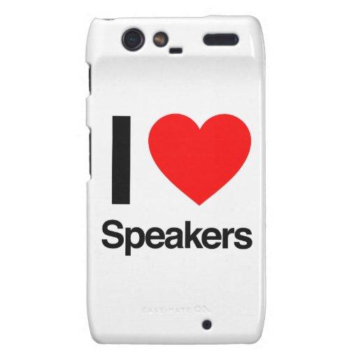 i love speakers droid RAZR covers