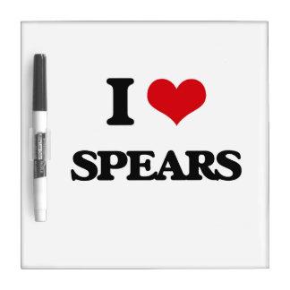 I Love Spears Dry-Erase Board