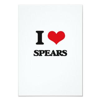 "I love Spears 3.5"" X 5"" Invitation Card"