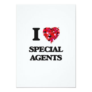 I love Special Agents 5x7 Paper Invitation Card