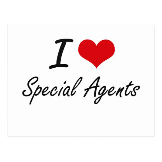 I love Special Agents Postcard