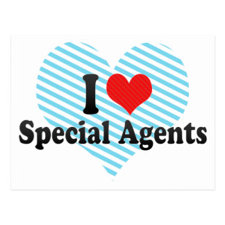 I Love Special Agents Postcards