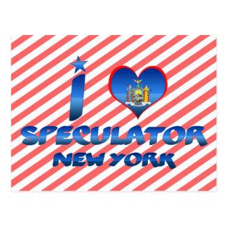 I love Speculator, New York Postcard