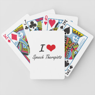 I love Speech Therapists Bicycle Playing Cards