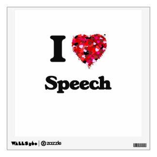 I Love Speech Wall Graphics