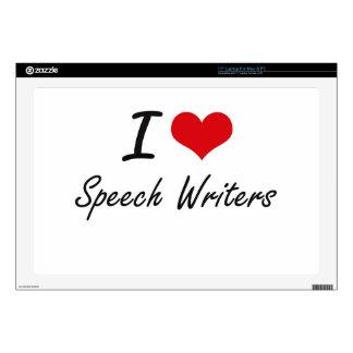 "I love Speech Writers 17"" Laptop Decal"