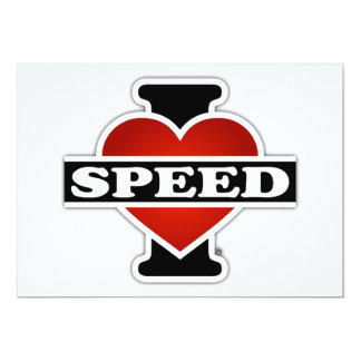 I Love Speed Card