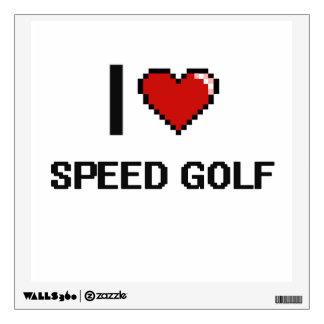 I Love Speed Golf Digital Retro Design Wall Decor