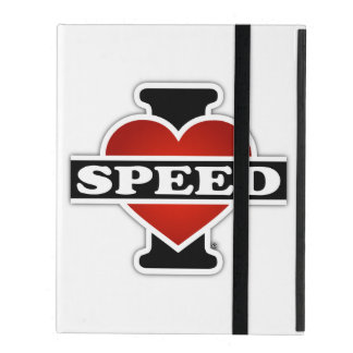 I Love Speed iPad Folio Case