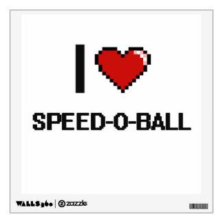 I Love Speed-O-Ball Digital Retro Design Wall Graphic