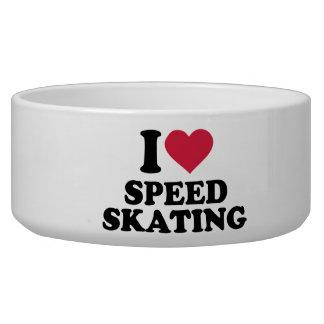 I love Speed skating Dog Bowl