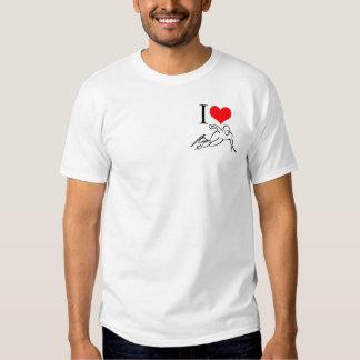 I Love Speed Skating (OMG!) Basic T-shirt