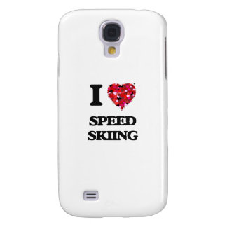 I Love Speed Skiing Galaxy S4 Cases